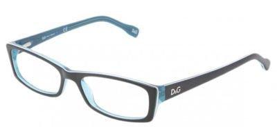 D&G DD1212 Eyeglasses-1870 Black Turquoise/White Turquoise-52mm