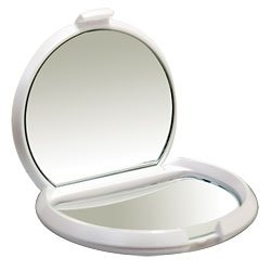 Kimball & Young First Impressions Double Mirror Compact 7X Magnification - White (Catalog Category: General Merchandise / Grooming Accessories) front-377364