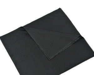 "Cosmos 5 PCS (7""x 8"") Black Super-soft Microfiber Lens/Cleaning Cloth for TV/LCD Screen/Camera/Lenses and Eye Glasses with Cosmos LCD Cloth"