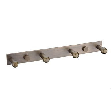 guoxian Solid Brass Wall Mount Row Robe Hook Antique Brass Finish