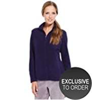 M&S Collection Funnel Neck Zip Through Fleece Jacket