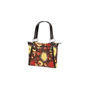 Pacific Design Kailo Chic Pleated Tote Mocha Floral – Notebook carrying case – mocha