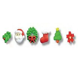 Edible Tiny Royal Icing Christmas Assortment, Set of 20