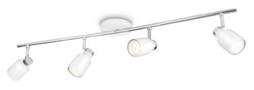 Philips 556743116 Ecomoods - Lampada da soffitto, forma speciale 4 x 10 W 230 V, colore: Bianco