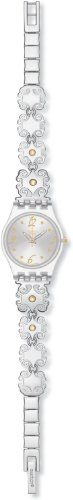 Swatch Crystal Lace Grey Stainless Steel Ladies Watch LK294G