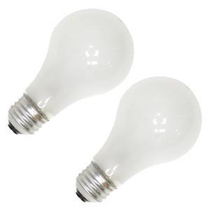 Bulbrite 50A19F/12 50-Watt A19 Frost 12 Volt Incandescent Bulbs, 2-Pack