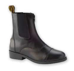 Saxon Equileather Childrens Zip Up Paddock Boot - Size 1 Black