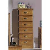 Carolina Furniture 234600 Six Drawer Lingerie Chest Dressers Furniture In Golden Oak