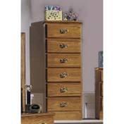 Carolina Furniture 234600 Six Drawer Lingerie Chest Dressers Furniture In Golden Oak