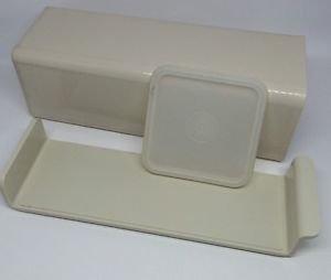 Vintage Tupperware Almond Velveeta Cheese Cracker Storage Keeper Container 1696 (Cheese Tupperware compare prices)