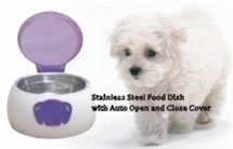 UZO1 AUTOMATIC TOUCHLESS SENSOR OPERATED DOGGY PET FEEDER WITH AUTOMATIC OPENING LID (Sensor Feeder compare prices)