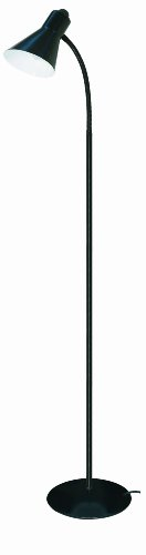 Satco Products 60/805 Goose Neck Floor Lamp, Black front-83841