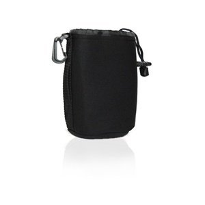 Cosmos Black Small DSLR camera Drawstring Soft Neoprene Lens Pouch Bag Cover for Sony Canon Nikon Pentax Olympus Panasonic + Cosmos Cable Tie