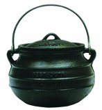 Best Duty Cast Iron Plat (Flat) Potjie Size 3 - Include complementary Lid Lifter Knob ($9.95 value) (Cast Iron Potjie compare prices)
