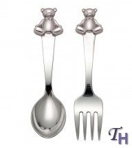 Reed & Barton 2612 Gingham Bear 2 Pieces Flatware Set,