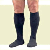 Activa Therapeutic Men's Ribbed Dress Socks 15-20 mmHg Navy X-Large - H2544