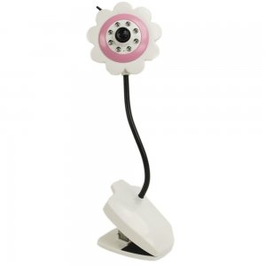 Cute Flower Type Ccd Camera For Baby Monitor Pink front-756747