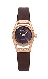 Skagen Black Label Swiss Round Brown Mother-of-pearl Dial Women's watch #982SRLD