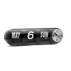 karlsson calendar flip clock bubble black kitchen home. Black Bedroom Furniture Sets. Home Design Ideas