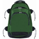 Champion Sports Deluxe All Purpose Backpack (Green, 13 x 20 x 10-Inch)