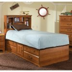 Image of City Park Kids Captain's Bed w/ Bookcase Headboard by Standard Furniture (4850-4861)
