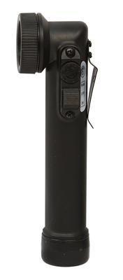 Led Flashlight - Mini Anglehead Army Style, Black By Rothco
