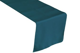 LA Linen Polyester Poplin Table Runner, 14 by 108-Inch, Teal Dark (Teal Table Runner compare prices)