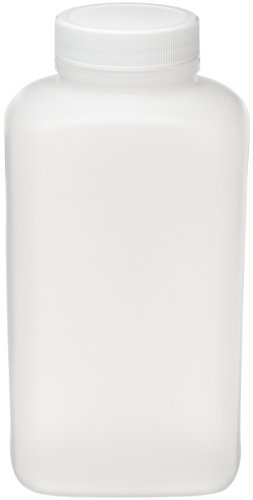 Wheaton 209685 Blake Packer Bottle, Natural HDPE, 16oz. With 43-400 Screw Cap Attached, 62mm x 77mm x 149mm (Case of 48) (White Cap Vapor Barrier compare prices)