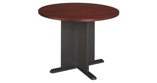Bush Furniture Round Conference Table, Hansen Cherry/Galaxy