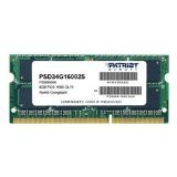 Patriot Signature DDR3 4 GB (1 x 4 GB) CL11 PC3-12800 (1600MHz) SODIMM Notebook Memory PSD34G16002S