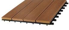 WPC Balkon- Fliesen 30 x 30 cm teakfarben 10 Stück
