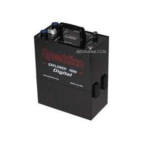 Speedotron Black Line Explorer 1500 Portable Battery Power Supply, 1,500 Watt Second, Two Outlet Power Pack.
