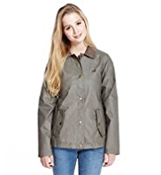 Angel Pure Cotton Corduroy Collar Waxed Jacket