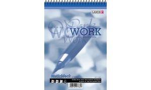 LANDRÉ Bloc-notes à spirale  WORK  A7, 40 feuilles,quadrillé70g/m2, sans bois (355704022/33170...
