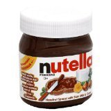 Nutella Hazelnut Chocolate Spread 375grams Plastic Jar (Pack of 2)