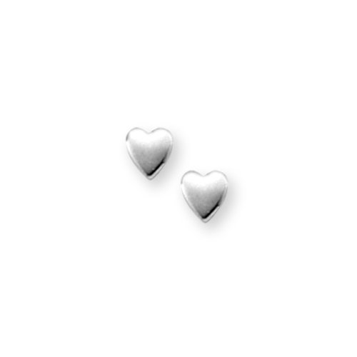Sterling Silver Children's Polished Heart Earrings