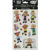 "Mambi Minis Stickers 4.5""X6"" Sheet 3/Pkg-Soccer Kids - 1"