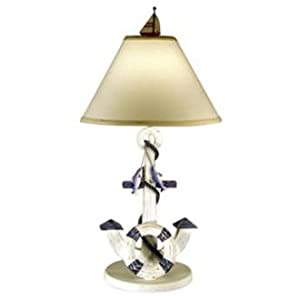 Nautical Desk Lamps on Amazon Com  Nautical Anchor Themed Table Lamp  Home Improvement