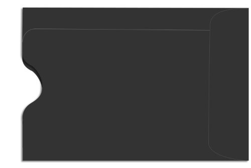 Credit Card Sleeve (2 3/8 X 3 1/2) - Midnight Black (50 Qty.) front-62961