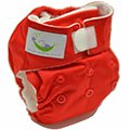 Sweet Pea Newborn All-In-One Diaper - 6-12 lbs (Red)