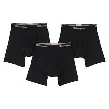 Champion Men's 3-Pack Smart Temp Boxer Brief, Black, LARGE (The Champion compare prices)