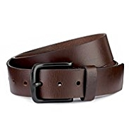 Autograph Leather Square Buckle Belt