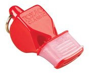 Fox 40 CMG Whistle with Cushioned Mouth Grip - Red