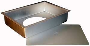 Fat Daddio's Anodized Aluminum Sheet Cheesecake Pan with Removable Bottom, 12 x 18 Inch x 3 Inch