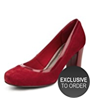 M&S Collection Suede Water Repellant Court Shoes