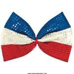 Amscan - Patriotic Jumbo Sequin Bow