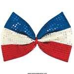 Amscan - Patriotic Jumbo Sequin Bow