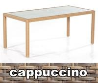 Gartentisch Vera Cruz 160x90 cm cappuccinofarben