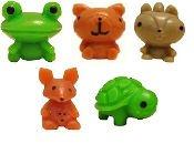 Squishies Pencil Topper - Zoo Mania 2 - Set of 5 (Kangaroo, Frog, Squirrel, Turtle & Bear w/ Codes)
