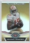 Michael Crabtree San Francisco 49ers (Football Card) 2011 Topps Platinum Gold Refractor #143